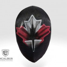 'Representing Canada' Fencing mask designed and airbrushed by Ian Johnson
