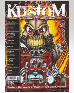 Kustom-Pinstriping-and-Graphics-Magazine-article-featuring-Excalibur-Airbrushing-Front-Cover 1