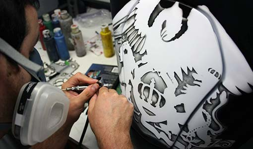 Airbrush Artist Working