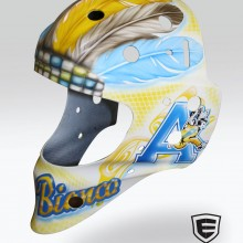 'Del Bianco' Goalie mask designed and airbrushed by Ian Johnson