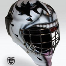 'KISS' Goalie mask designed and airbrushed by Ian Johnson