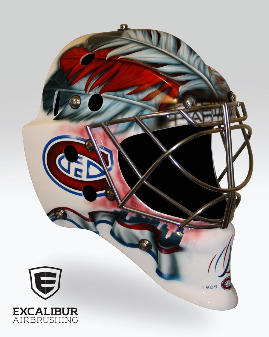 Custom Goalie Helmet Painting