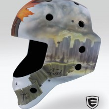'Van City' Goalie mask designed and airbrushed by Ian Johnson