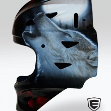 'Twilight' Goalie mask designed and airbrushed by Ian Johnson