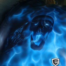 'Frigid Flames' Big Rig designed and airbrushed by Ian Johnson