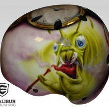'Alice in Wonderland' Roller derby helmet designed and painted by Ian Johnson