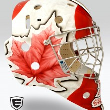 'Beautiful BC' Goalie mask designed and airbrushed by Ian Johnson