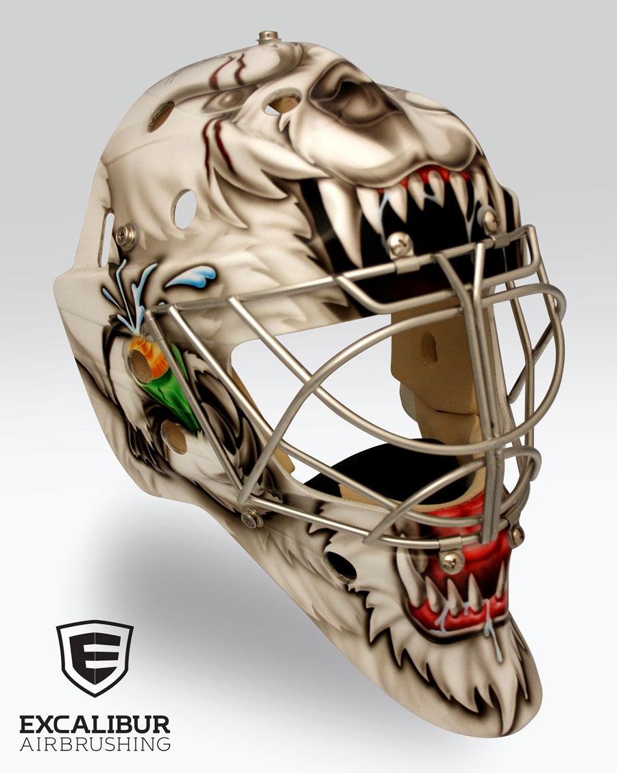 Custom Goalie Helmet Painting