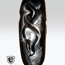 'Snake Dance' Triumph Rocket 3 motorcycle front fender designed and airbrushed by Ian Johnson