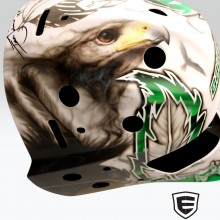 'Sioux' Goalie mask designed and airbrushed by Ian Johnson