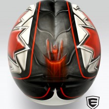 'Future of Bobsleigh' Helmet designed and airbrushed by Ian Johnson for Canadian Single Man Bobsleigh Athlete, Parker Reid