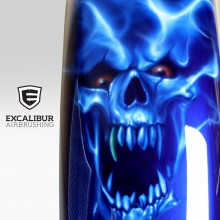 'OutKasts' Harley fender designed and airbrushed by Ian Johnson