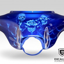 'See No Evil, Hear No Evil, Speak No Evil' Harley Davidson fairing designed and airbrushed by Ian Johnson