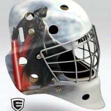 'Vader' Goalie mask designed and airbrushed by Ian Johnson