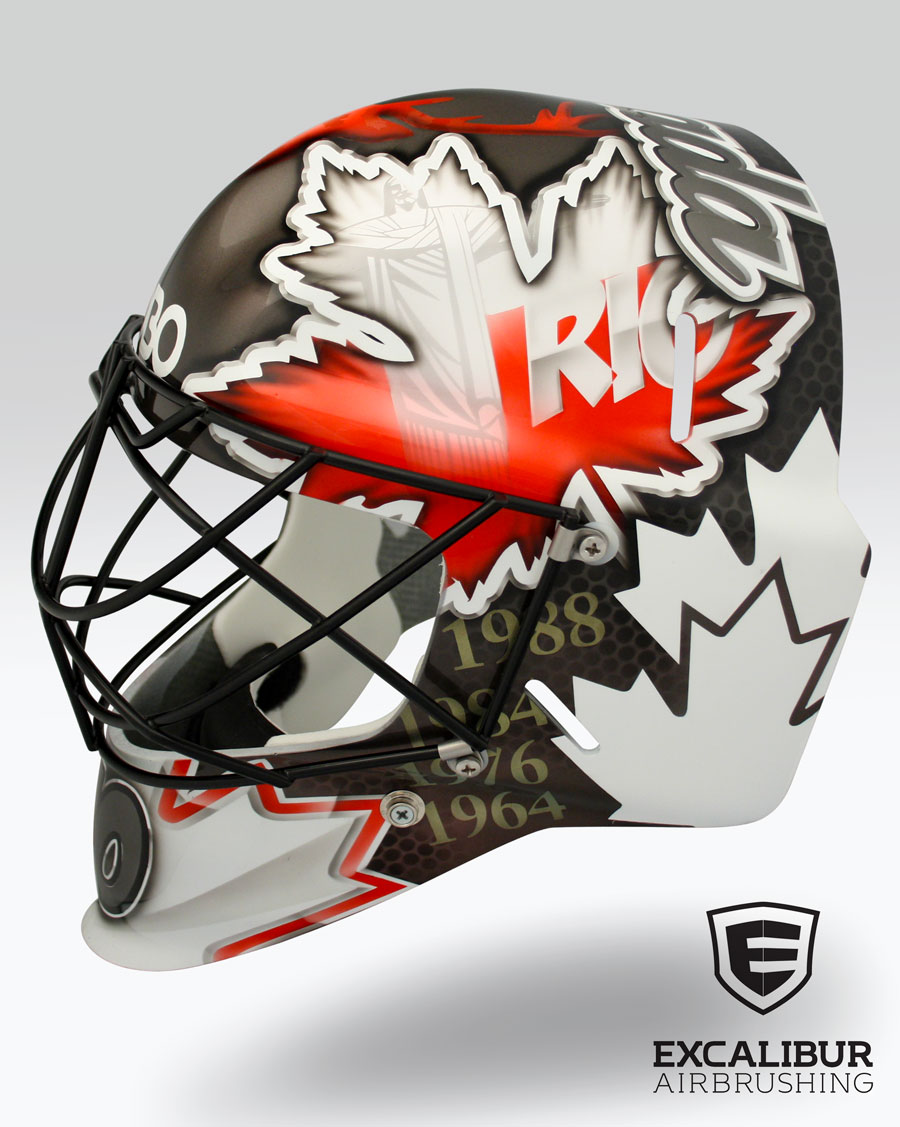 Rio Goalie Mask Designed And Airbrushed By Ian Johnson For Team