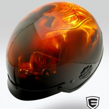 'A Lifetime of Service' Harley Davidson helmet designed and airbrushed by Ian Johnson
