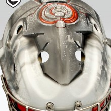'Call of Duty' Goalie mask designed and airbrushed by Ian Johnson