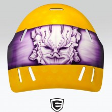 'KEENO' Goalie mask designed and airbrushed by Ian Johnson for WLA Coquitlam Adanacs goalie Keenan Lambright