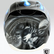 'Hayabusa' Icon motorcycle helmet airbrushed by Ian Johnson #ianjohnsonart #excaliburairbrushing #customairbrushing #airbrushartists #motorcyclehemetpainting #helmetpainting #customhelmets #customairbrushedmotorcyclehelmets #airbrushedhelmets #dragonart #abbotsfordartist #vancouverartist