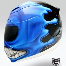 'Hayabusa' Icon motorcycle helmet airbrushed by Ian Johnson