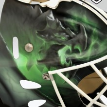'Magic' Goalie mask designed and airbrushed by Ian Johnson