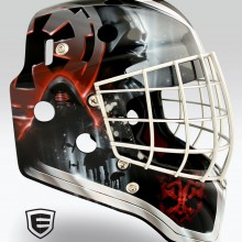 'Let the Wookie Win' Goalie mask designed and airbrushed by Ian Johnson