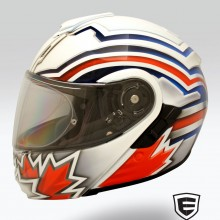 'Canadian Jack' Motorcycle helmet designed and airbrushed by Ian Johnson