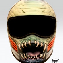 'Monster Road Rage' Road racing helmet designed and airbrushed by Ian Johnson #ianjohnsonart #excaliburairbrushing #customairbrushing #airbrushartists #motorcyclehemetpainting #helmetpainting #customhelmets #customairbrushedmotorcyclehelmets #airbrushedhelmets #monsterart #abbotsfordartist #vancouverartist