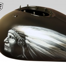 Indian Chieftain Motorcycle Tank designed and airbrushed by Ian Johnson
