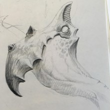 Creature Illustration by Ian Johnson #ianjohnsonart #excaliburairbrushing #creatureart #creaturedesign #creatureillustration #abbotsfordartist #vancouverartist #pencildrawing #monsterart