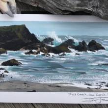 Shell Beach, The Sea Ranch, California – Painting by Ian Johnson