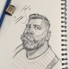 Pencil Illustration by Ian Johnson #ianjohnsonart #excaliburairbrushing