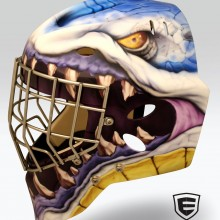 'The Mighty Monster' Goalie mask designed and airbrushed by Ian Johnson