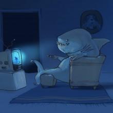 Shark week 2019 was finally here!! Illustration by Ian Johnson #ianjohnsonart #excaliburairbrushing #digitalart #sharkweek #digitalillustration