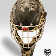 'Tribute to Noah' Goalie mask designed and airbrushed by Ian Johnson