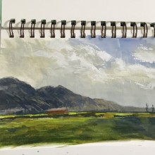 Capturing the beautiful farmland in Matsqui (Fraser Valley), BC – Painting by Ian Johnson